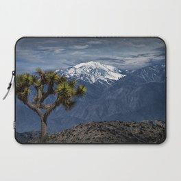 Joshua Tree at Keys View in Joshua Park National Park viewing the Little San Bernardino Mountains Laptop Sleeve