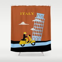 italy Shower Curtains featuring Italy by Laurel Natale