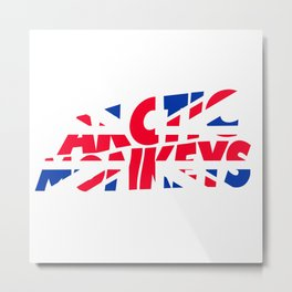 ArcticMonkeys UK Flag Metal Print