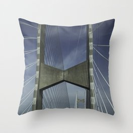 Abstract Engineering Throw Pillow