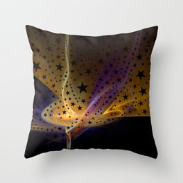 Ethereal Flame with Stars Throw Pillow