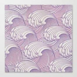 Lilac Waves Canvas Print