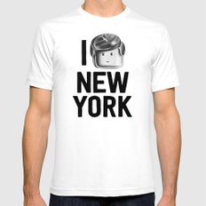 I Love New York Mens Fitted Tee SMALL White