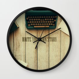 write your own story II Wall Clock