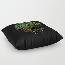 Rope Tree of Life. Rope Dojo 2017 black background Floor Pillow