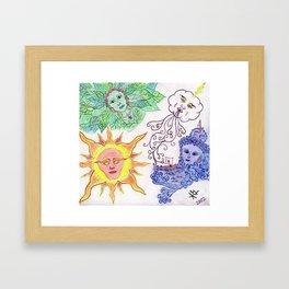 Elementals Framed Art Print