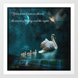 Your heart knows in silence Art Print