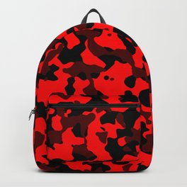 Camouflage Black and Red Backpack