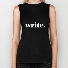 Write, blue Biker Tank