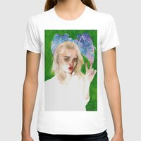 sky ferreira T-shirts featuring SKY FERREIRA PLUS PLANTS by Jethro Lacson