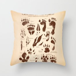 Cryptids of the World Throw Pillow