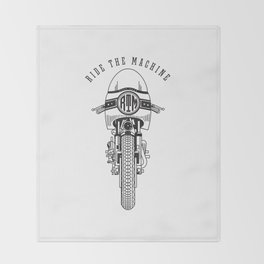 Ride The Machine Throw Blanket
