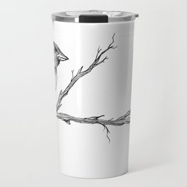 Two Sparrows by Sketchy Reputation Travel Mug