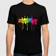 Young, Wild and Free MEDIUM Black Mens Fitted Tee