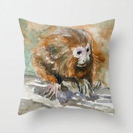 MONKEY#1 Throw Pillow
