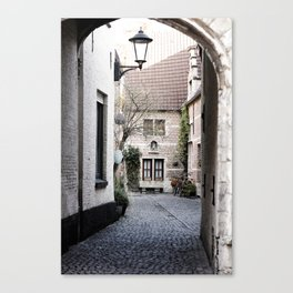 A quaint alley in the beguinage Canvas Print