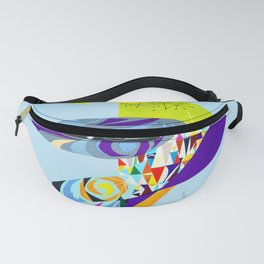 Sud America - Vintage Italian Airline Travel Poster Fanny Pack