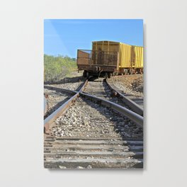 Off Tracks Metal Print