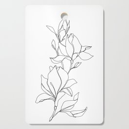 Botanical illustration line drawing - Magnolia Cutting Board