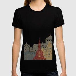 Vaduz skyline poster T-shirt