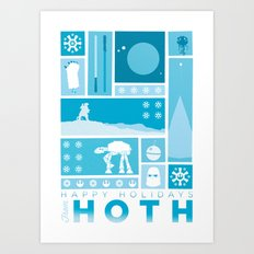 Happy Holidays from Hoth Art Print