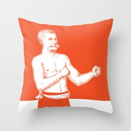 Bare Knuckle Boxer Throw Pillow