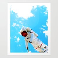 spaceman Art Prints featuring Spaceman by Richwill Company