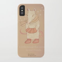 Christmas creatures- The Little Mouse iPhone Case