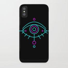 Eye of awakening black version iPhone Case