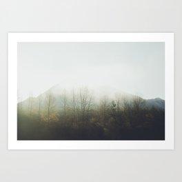 the fog in my eyes Art Print