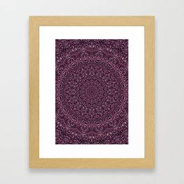 Dark Purple color mandala Sophisticated ornament Framed Art Print