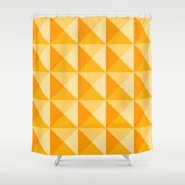 Geometric Prism in Sunshine Yellow Shower Curtain