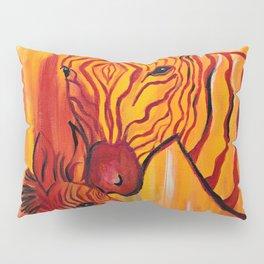 Orange Zebra Pillow Sham