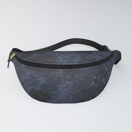 Antique World Star Map Navy Blue Fanny Pack