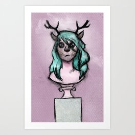 The Idols We Created in Our Bedrooms with Webcams and Makeup Palettes Art Print