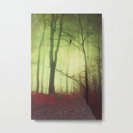mysteriOns - surreal forest scene Metal Print
