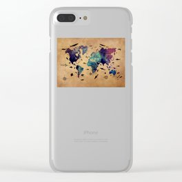 World map atlas Clear iPhone Case