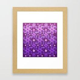 flowing florals Framed Art Print