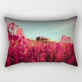 Early morning, Bamburgh castle Rectangular Pillow