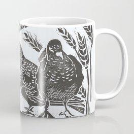 Bedford Square, Feeding pigeons lino cut Coffee Mug