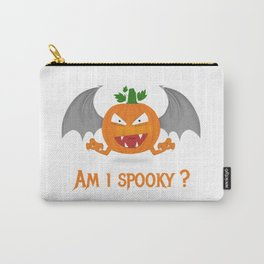 Funny spooky halloween pumpkin Carry-All Pouch