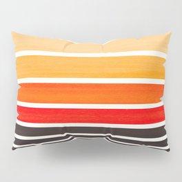 Orange Minimalist Watercolor Mid Century Staggered Stripes Rothko Color Block Geometric Art Pillow Sham