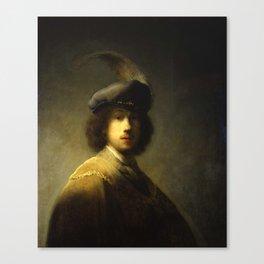 Rembrandt van Rijn, Young artist Canvas Print