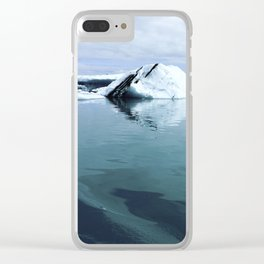 Glacier in Iceland Clear iPhone Case