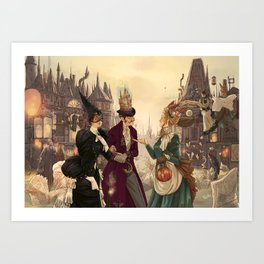Welcome to Magieaux Art Print
