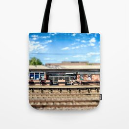Miniature People at the Station Tote Bag
