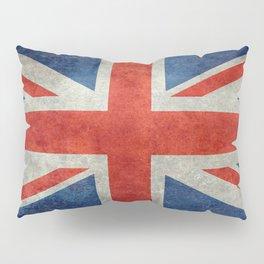 """UK Union Jack flag """"Bright"""" retro grungy style Pillow Sham"""
