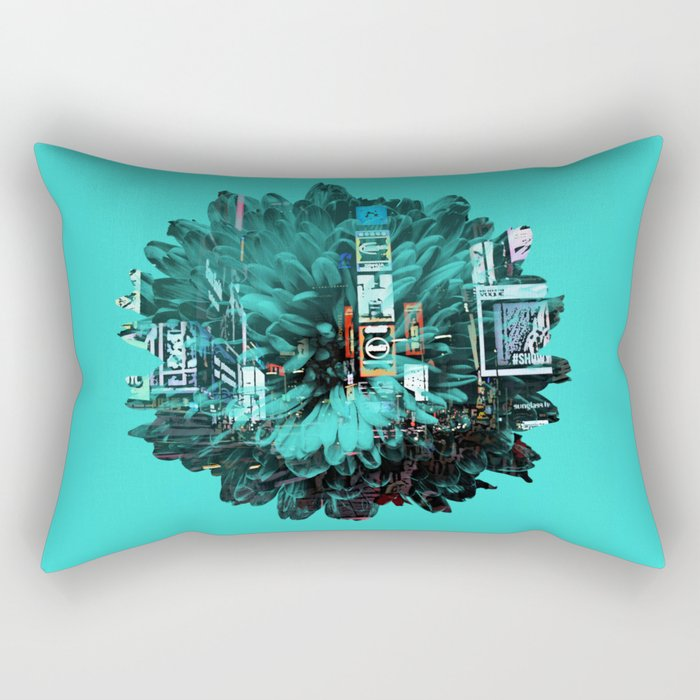 times square flower Rectangular Pillow