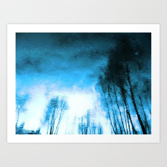 Winter Blue(s) 1>3 Art Print