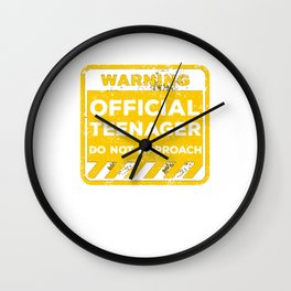 Official Teenager 13 Year Old Funny 13th Birthday Gift Wall Clock